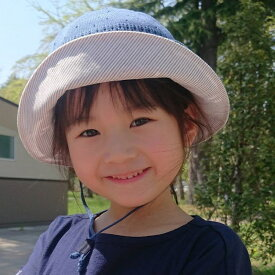 94ebd84185ee7 帽子 キッズ ハット あごひも付き 女の子《ベルモード》レース編み子ども帽子