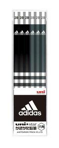 ◎アディダス<adidas> かきかた鉛筆12本入り (2B) ブラック US1072 六角軸 三菱鉛筆 ユニスター(uni star)/文具/文房具/新入学