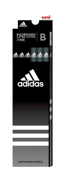◎アディダス<adidas> かきかた鉛筆12本入り 紙箱タイプ (B) ブラック K5588B 六角軸 三菱鉛筆 紙箱級/文具/文房具/新入学