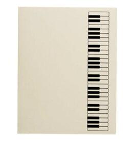 ミュージックレッスンファイル FL-95/KB/IVB 鍵盤 アイボリーブラック 表紙:アイボリー ナカノ nakano A3サイズ対応 FL95KBIVB サイドイン(横入れ)楽譜ファイル 24ポケット