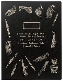 ミュージックレッスンファイル ブラスバンド/ブラック FL-95/BB/BL 表紙:ブラスバンド(黒) ナカノ nakano A3サイズ対応 サイドイン(横入れ)