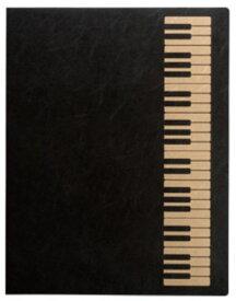 ミュージックレッスンファイル FL-95/KB/BLG 鍵盤 ブラックゴールド 表紙:黒 ナカノ nakano A3サイズ対応 FL-95KBBLG サイドイン(横入れ)楽譜ファイル 24ポケット