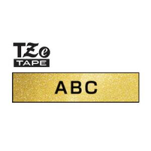 (黒文字 プレミアムゴールドテープ 12mm) ピータッチ用おしゃれテープ プレミアムタイプ TZe-PR831 テープカセット ブラザー brother P-TOUCH 【メール便対応8個まで】