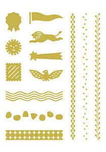 KITTA キッタ バーチカル(ゴールド)KITD018 ちいさく持てる持ち歩きに便利なマスキングテープ キングジム KING 4シート入(1柄×4シート) ※和紙素材のシールです。※シールはゴールド