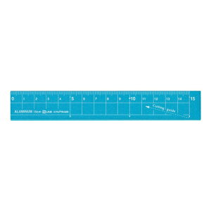 アルミ定規15cm  紙がキレイに切れる定規 XS15 LUMINUM RULER Hi LINE KUTSUWA