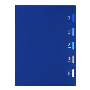 マルマン ファイブチャートライトAtype F115−02 ブルー 0120-1373 <プラスチックとじ具・B5・タテ型> ルーズリーフバインダー ファイルノート リーフバインダー