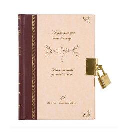 ミドリ 日記 鍵付き 天使柄 12370006 デザインフィル/日記帳/鍵付日記