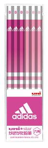 ◎アディダス<adidas> かきかた鉛筆12本入り (B) ピンク US1073 六角軸 三菱鉛筆 ユニスター(uni star)/文具/文房具/新入学