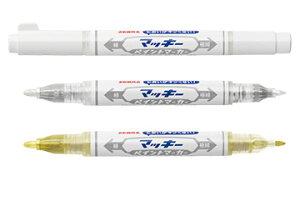 マッキーペイントマーカー 極細(丸芯細字1.2mm、丸芯極細字0.7mm)YYTS20 油性マーカー 白・金・銀/ホワイトインク・ゴールドインク・シルバーインク 油性・耐水性・不透明 使い切り