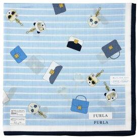 FURLA フルラ プリントハンカチーフ 8503 ブルー