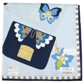 FURLA フルラ プリントハンカチーフ 8504 ブルー