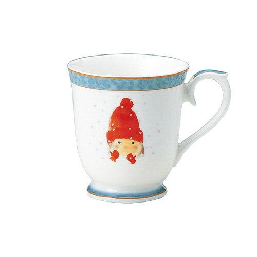 NARUMI ナルミボーンチャイナ いわさきちひろ マグカップ 赤い毛糸帽の女の子
