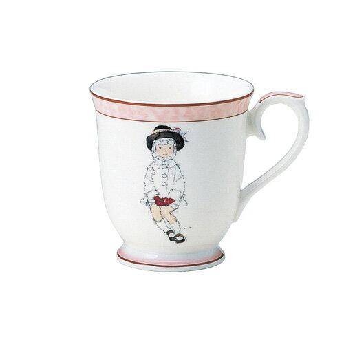 NARUMI ナルミボーンチャイナ いわさきちひろ マグカップ こげ茶色の帽子の少女