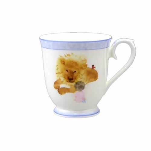 NARUMI ナルミボーンチャイナ いわさきちひろ マグカップ 見つめあうライオンと女の子