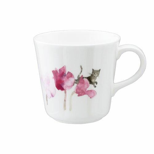 NARUMI ナルミボーンチャイナ いわさきちひろ マグカップ(シクラメンと猫)