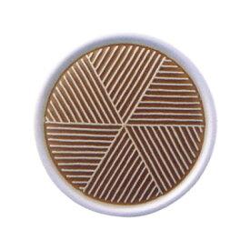 白山陶器 彫釉彩 反りふたもの Mサイズ 茶色