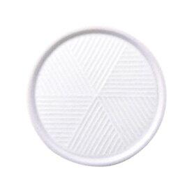 白山陶器 彫釉彩 反りふたもの Mサイズ ホワイト
