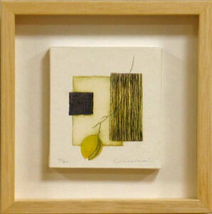 岩切裕子 額付き木版画 gently(2004年)