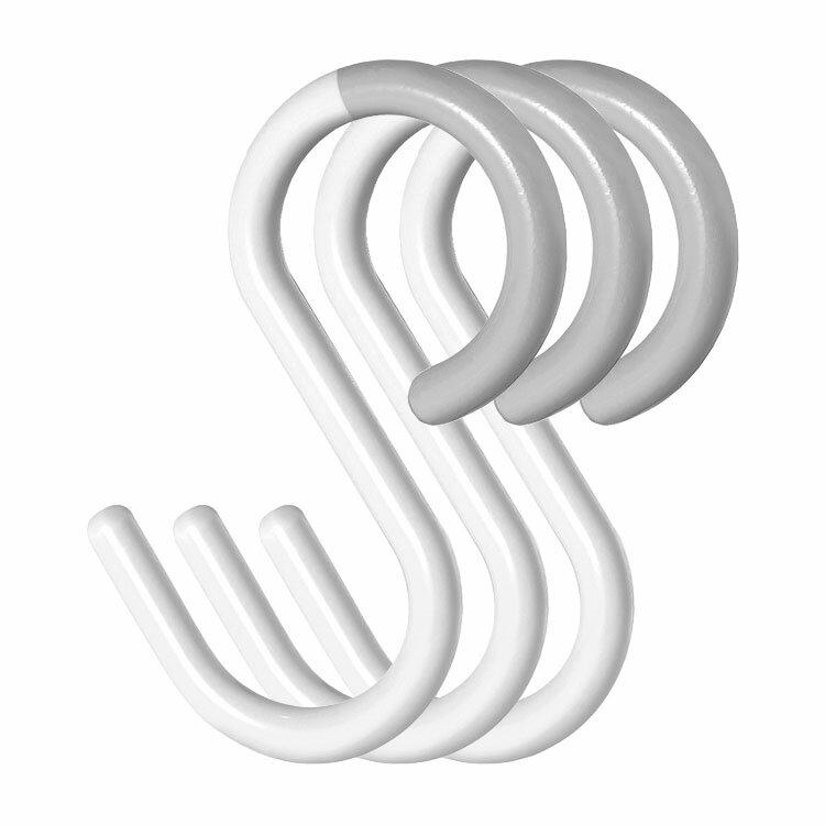 tidy S Hook[エス・フック] ウォームホワイト 3個セット
