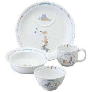 NARUMI ナルミの子ども食器 ブレーメン 幼児セット(ポリッジボール、飯茶碗、マグ、プレート)