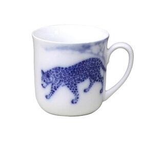 大倉陶園 マグカップ ブルーサファリ ジャガー