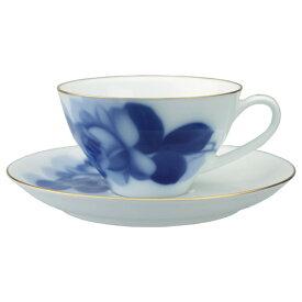 大倉陶園 ブルーローズ ティー碗皿(カップ&ソーサー)