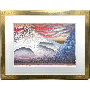 牧野宗則 額付き木版画 『普賢転生』 1992年
