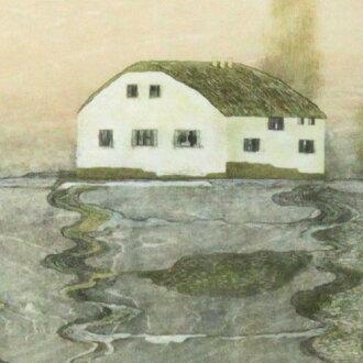 이와키리 유코액 목판화 「mist」(2009년)