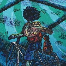 風鈴丸 額付き木版画 やさしい瞳 1997年