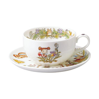 Noritake bone China and became the Totoro special collection tea bowl dish (Cup & Saucer) dandelion (March-April) Edition