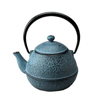 Nanbu iron Kettle OIGEN and source teapot egg-shaped blue 0.55 L