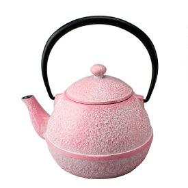 南部鉄器鉄瓶 OIGEN 及源 急須 たまご形 白ピンク 0.55L