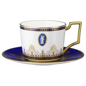 ウェッジウッド アンセミオン ブルー ティーカップ&ソーサー(カメオ)