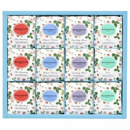 ウェッジウッドの紅茶 ワイルドストロベリー ティーバッグ アソート(4種) 48個入り 【楽ギフ_包装選択】【楽ギフ_のし宛書】【楽ギフ_メッセ入力】