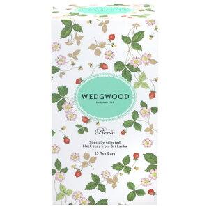 ウェッジウッドの紅茶 ワイルドストロベリー 『ピクニックティー』 ティーバッグ25袋入り