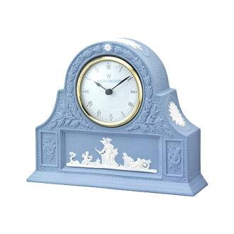 Wedgwood jasperware pale blue mantle clocks