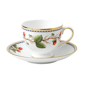 ウェッジウッド ワイルドストロベリー アーカイブ ティーカップ&ソーサー(リー)
