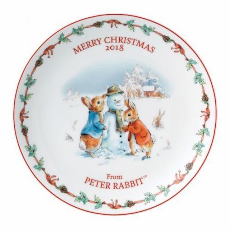 ウェッジウッド ピーターラビット クリスマスプレート 2018年