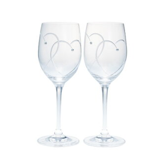 Wedgwood Crystal promises two hearts wine glass pairgift set