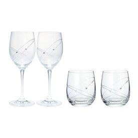 ウェッジウッド プロミシス 『ウィズ ディス リング』 ワイン&タンブラーグラス ペアギフトセット / おしゃれ ブランド 食器 ギフト プレゼント 結婚祝い 内祝