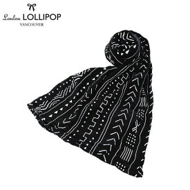 Loulou LOLLIPOP(ルルロリポップ)おくるみ ブラックマッドクロス / 送料無料 スワドル