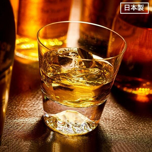 父の日 ギフト プレゼント (富士山 グラス 田島硝子) 富士山 ロックグラス 木箱入り(あす楽一時休止中) / 江戸硝子 記念日 誕生日 父の日 プレゼント お祝い 還暦祝い 退職祝い 内祝い ウィスキー ブランデー グラス