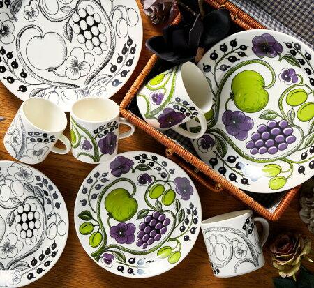 アラビアARABIAパラティッシプレート21cmブラック/Paratiisi皿北欧食器フィンランド結婚祝い新築祝い誕生日プレゼント内祝いギフトのし可