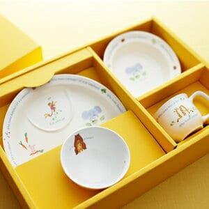 お食い初め セット/ベビー食器「ナルミ」食器セット(幼児セット)ベビー食器はギフト用途でもご自宅用としてもご利用できます。(あす楽一時休止中)【B4】【楽ギフ_