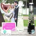 【バルーン電報】ハーバリウム ブライド&グルーム ボトル(2本セット)(LEDライト*2+プレミアムギフトBOX付) 結婚…