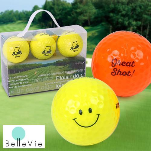 名入れカラーゴルフボール TourStage(3個) & Teeギフトセット [ 誕生日プレゼント 男性 イラスト お名前印刷 プレゼント お名前入りゴルフ 誕生日 ]10P03Dec16