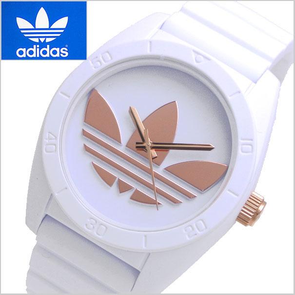アディダス オリジナルス adidas originals 腕時計 Santiago (サンティアゴ) ホワイト x ローズゴールド トレフォイル/メンズ・レディース共用 アディダスADH2918