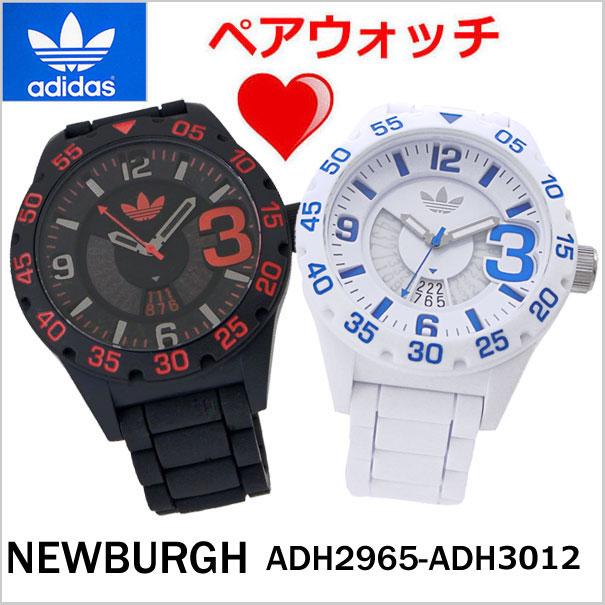 アディダス オリジナルス adidas originals 腕時計 ペアウォッチ(2本セット)ニューバーグ NEWBURGH ブラック & ホワイト/アディダスADH2965 ADH3012