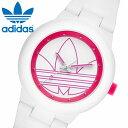 アディダス オリジナルス adidas originals 腕時計 ABERDEEN (アバディーン) ホワイト x ピンク トレフォイル/ユニセックス・男女兼用 アディダス ADH3211