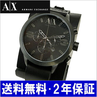 ARMANI EXCHANGE chronograph mens watch / leather belt AX1276